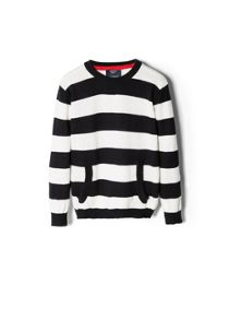 Boys patch striped sweater