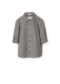 Boys gingham check shirt