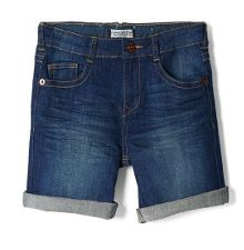 Boys dark denim bermuda shorts