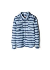 Boys striped denim shirt