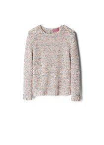 Girls textured multicolor sweater