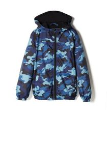 Boys water-repellent hooded jacket