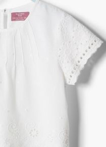 Girls broidery anglaise blouse