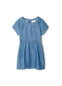 Girls printed chambray dress