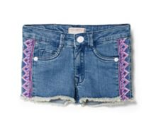 Girls Ethnic Denim Short