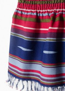Girls Fringed Printed Skirt