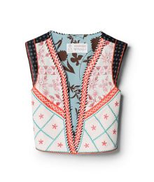 Girls Ethnic Print Gilet