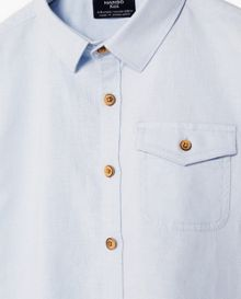 Boys Linen Cotton-Blend Shirt