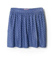 Girls star print skirt
