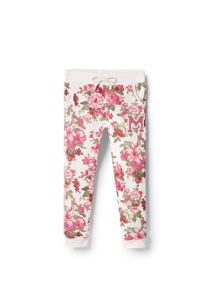 Girls Floral Print Jogging Trousers