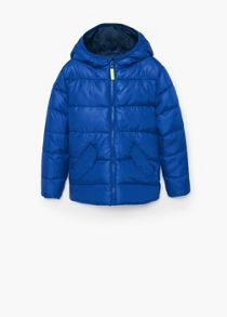 Boys water-repellent quilted jacket