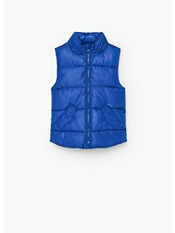 Boys water-repellent quilted gilet