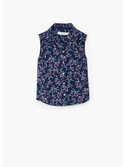 Mango Girls Floral Print Shirt