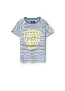 Boys Message Striped T-Shirt