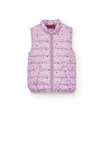 Girls Printed quilted gilet