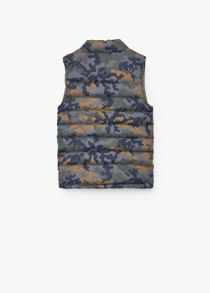 Mango Boys Printed quilted gilet