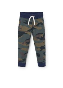 Boys camo print trousers