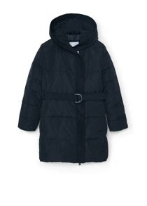 Mango Girls Quilted hooded coat