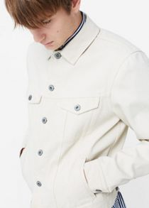 Mango White denim jacket