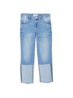Twosides Striaght Jeans