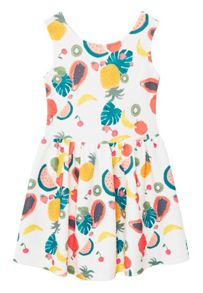 Mango Girls Textured printed dress