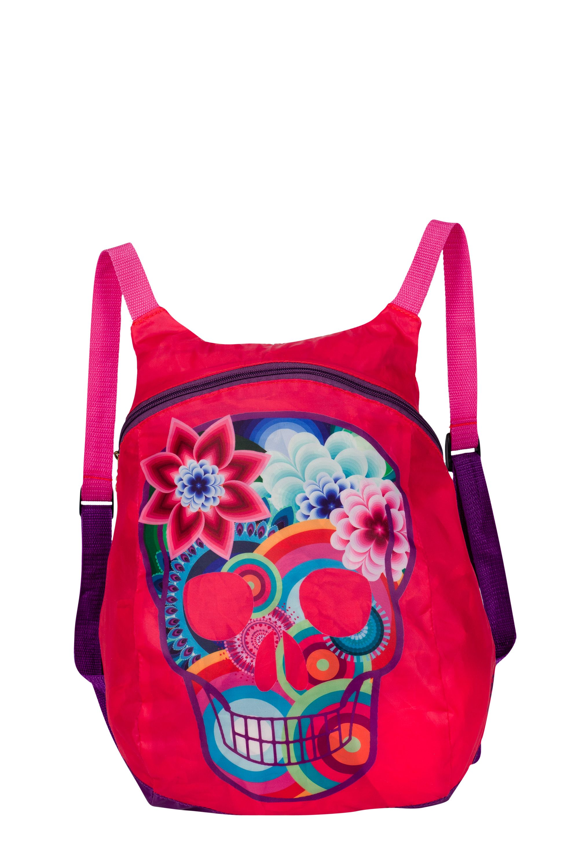 Girls skull print woven backpack