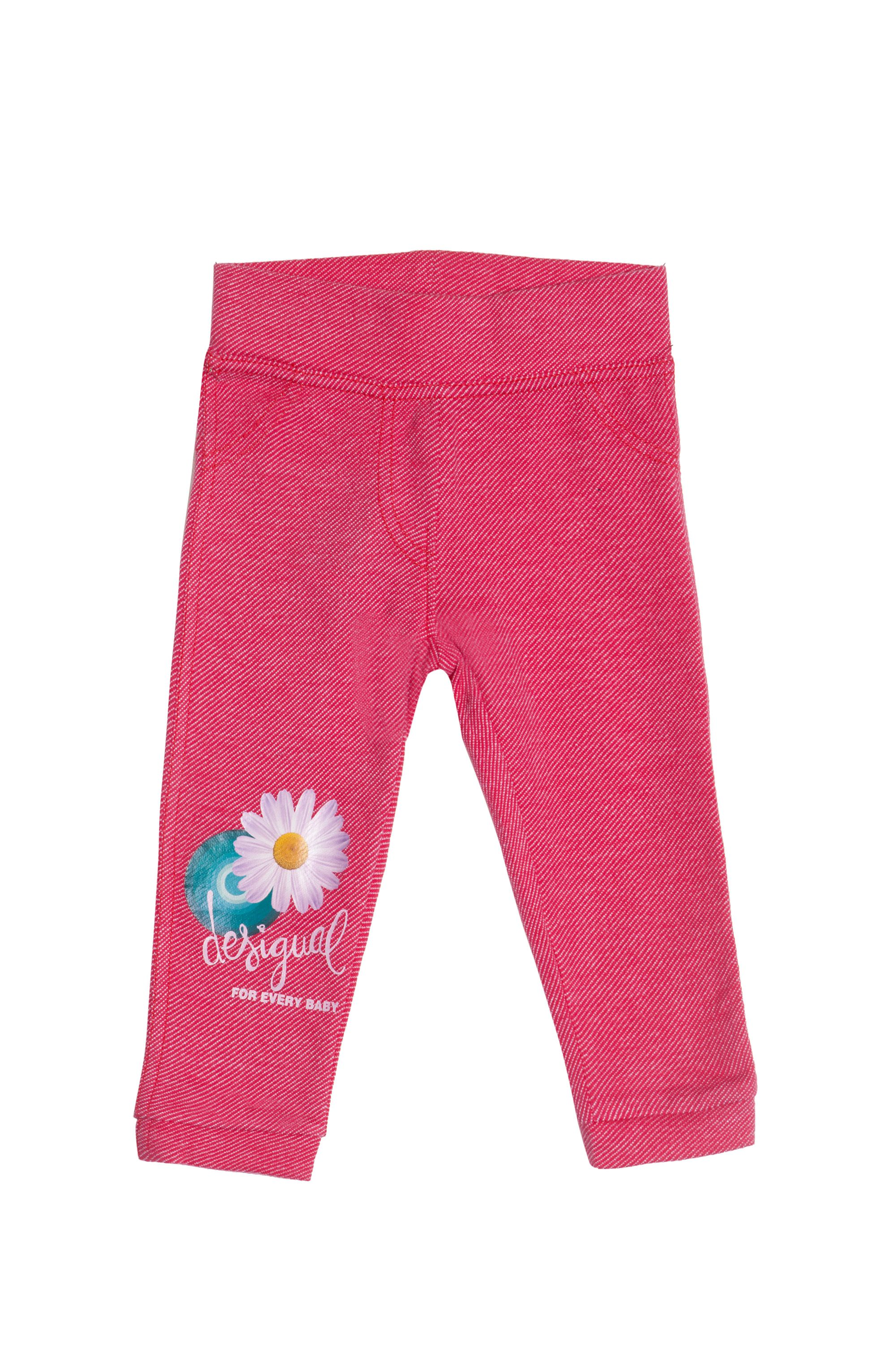 Baby girl`s flor knitted trousers