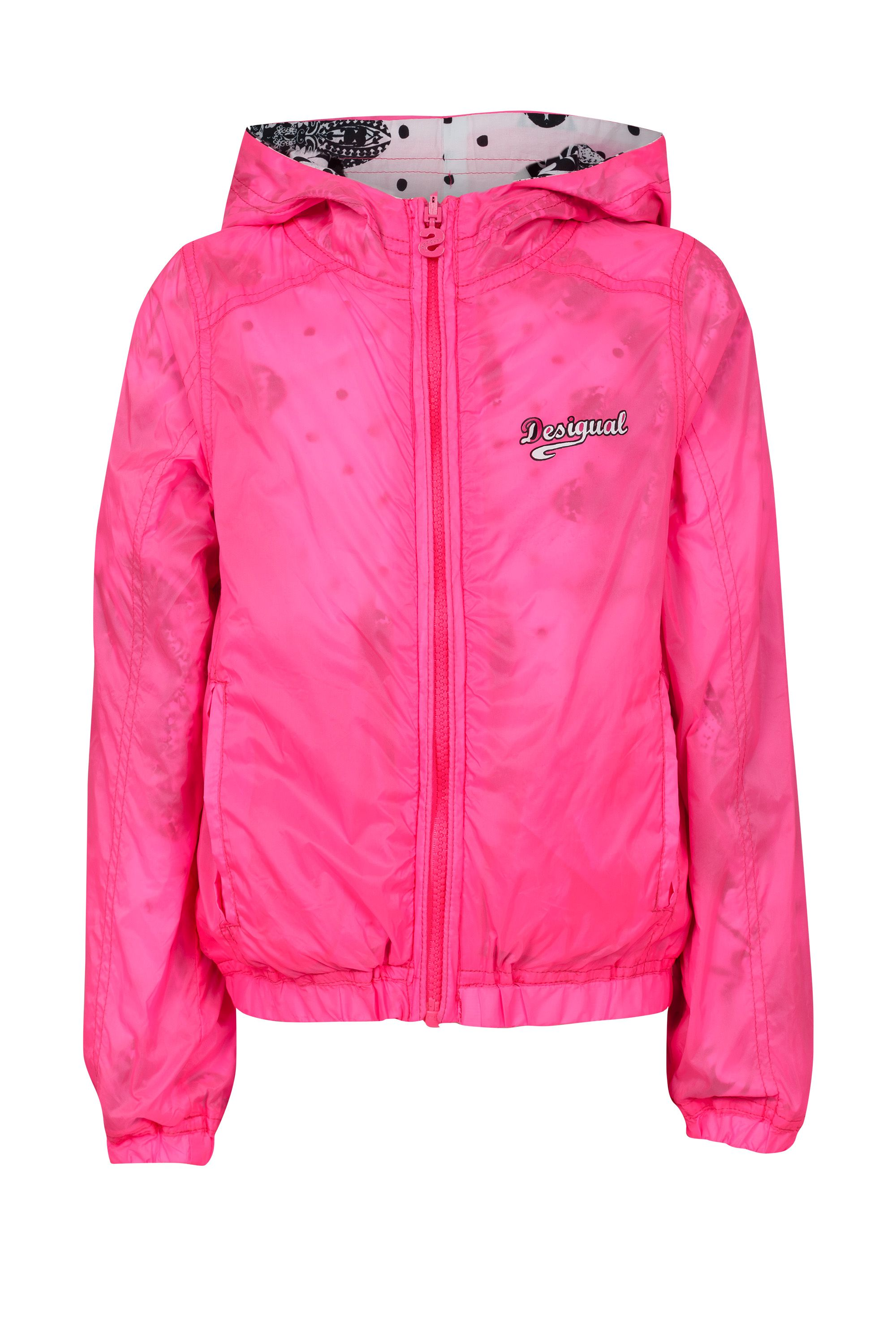 Girl`s waterproof hooded ray jacket