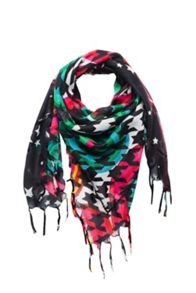 Girls printed square scarf