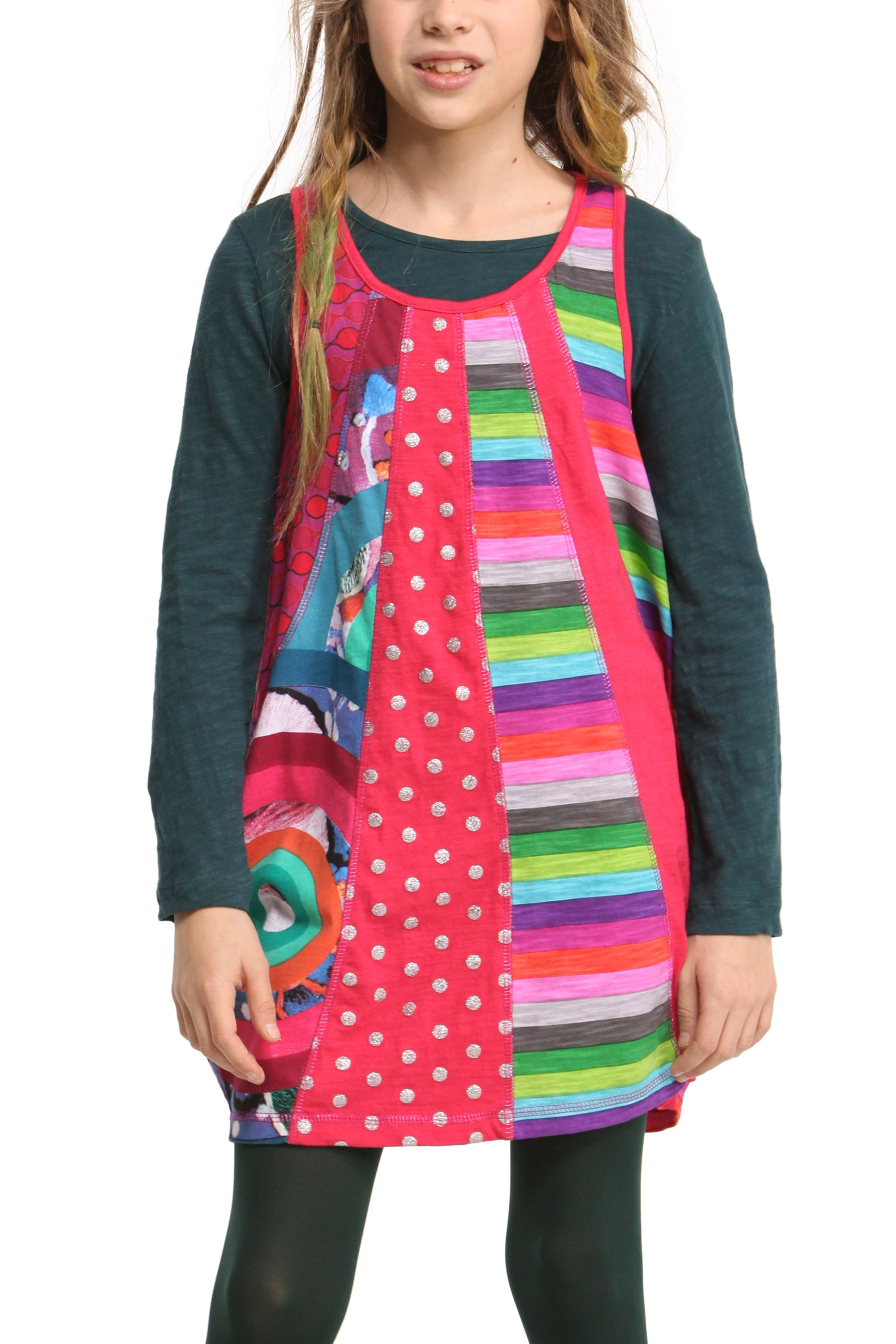 Girls malva dress