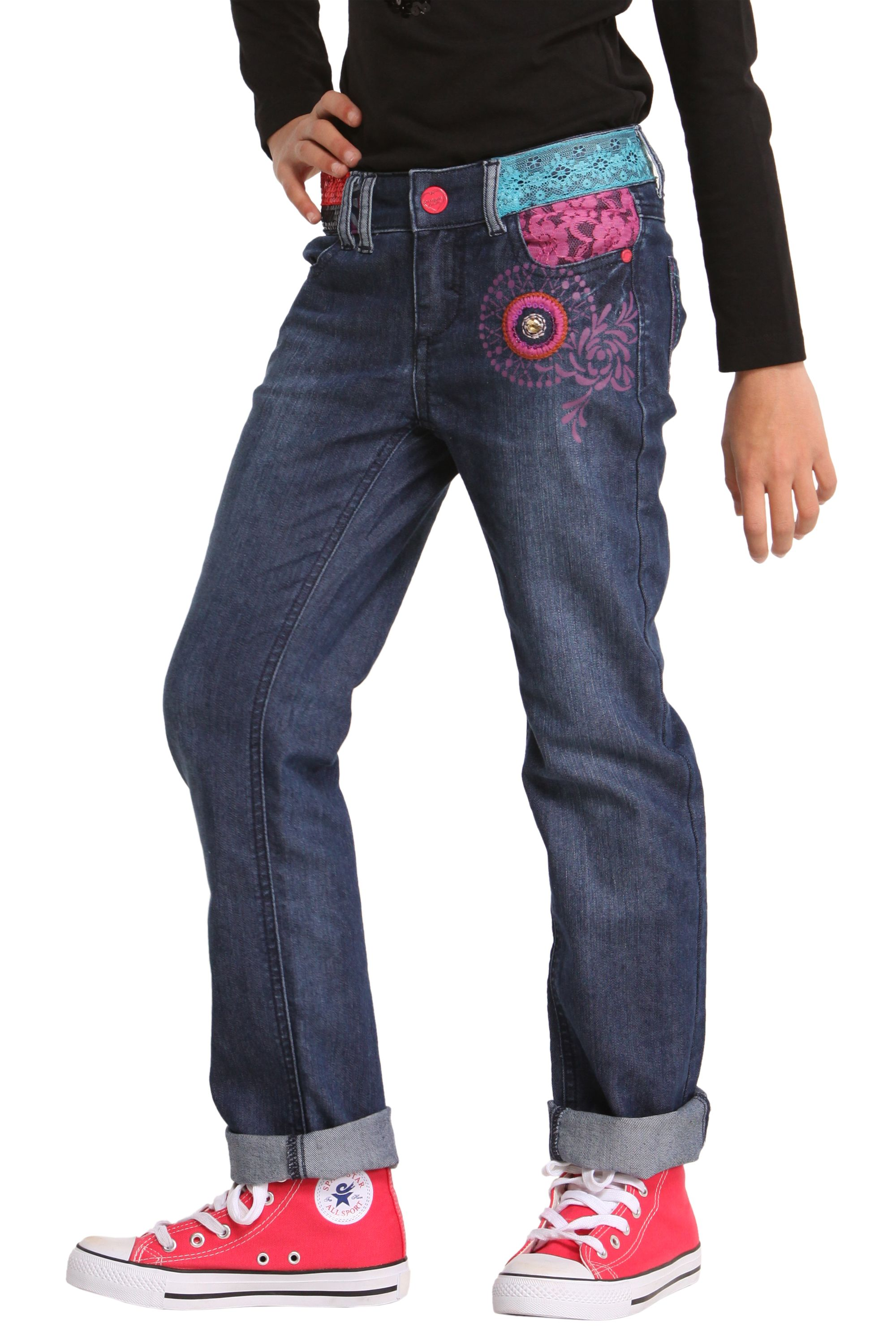 Girls boxer jeans