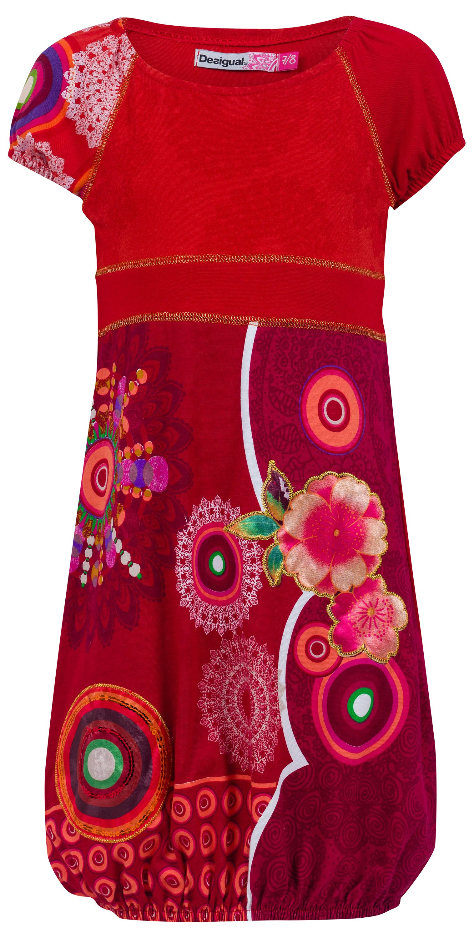 Girls ortiga printed dress
