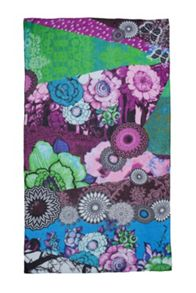 Patch floral scarf