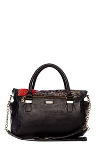 Liberty red circles handbag