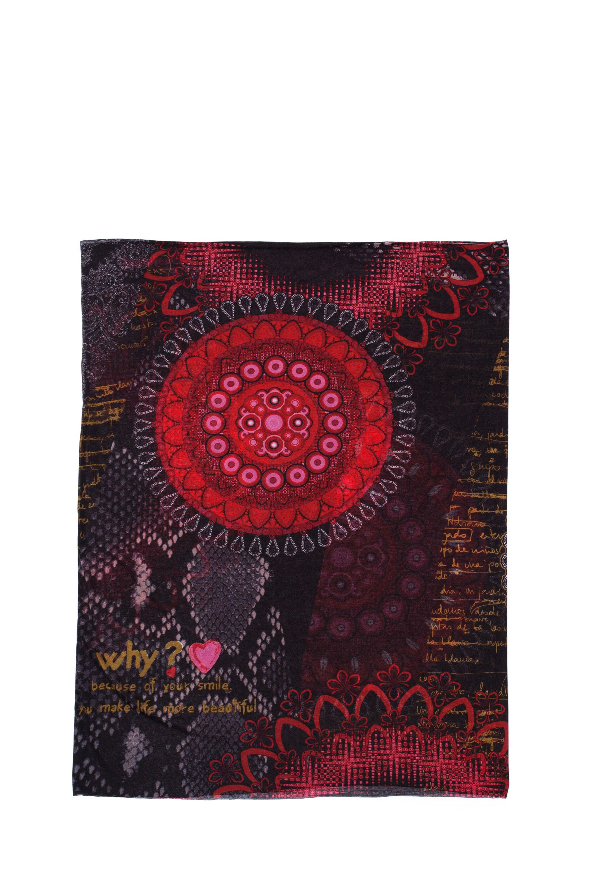 Red circles snood scarf