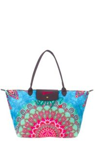 Paris printed shoulder bag