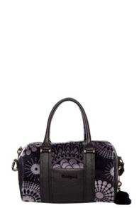 Malta printed faux fur handbag