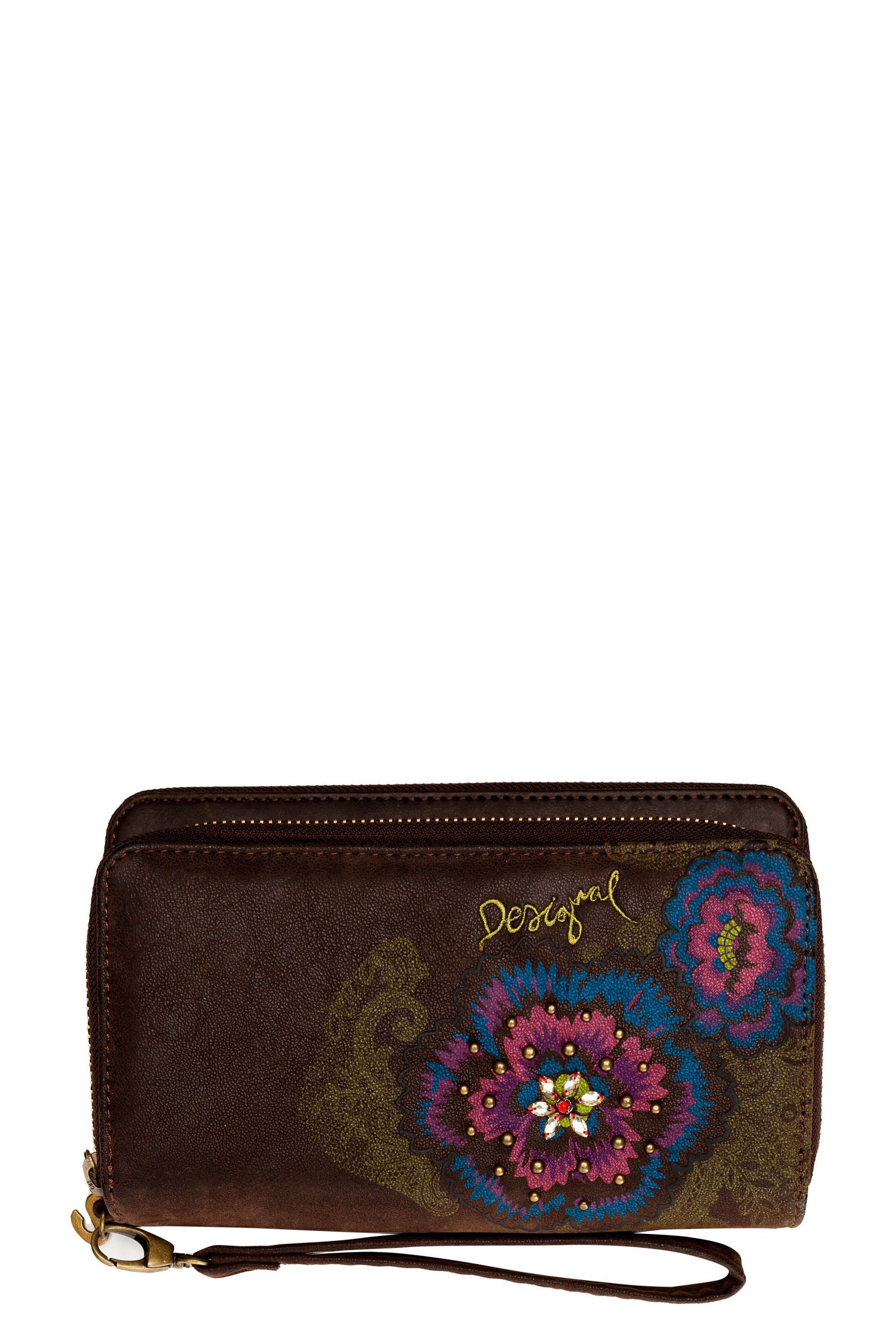 Flower diamond purse