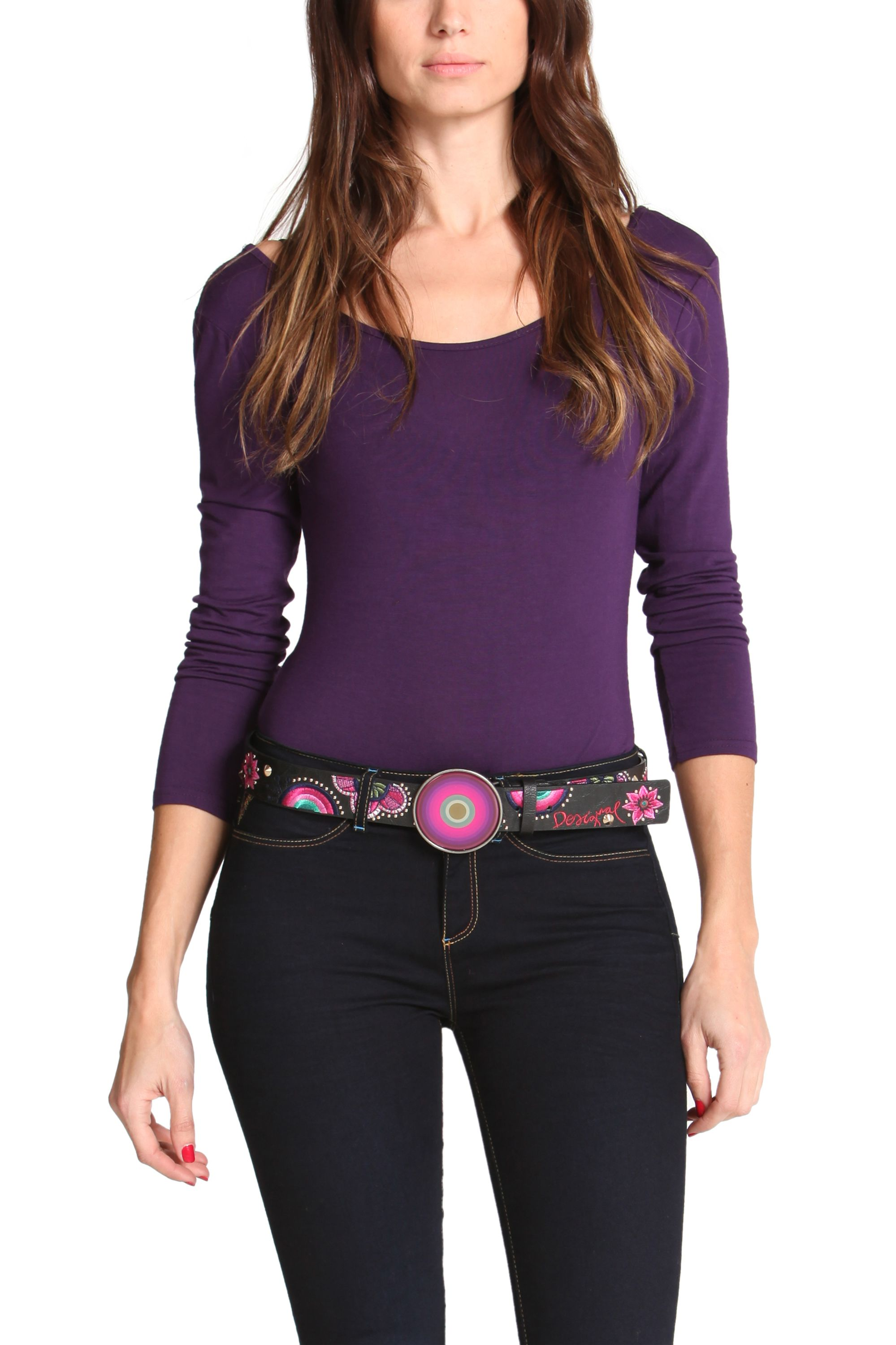Floreado clasp metal belt