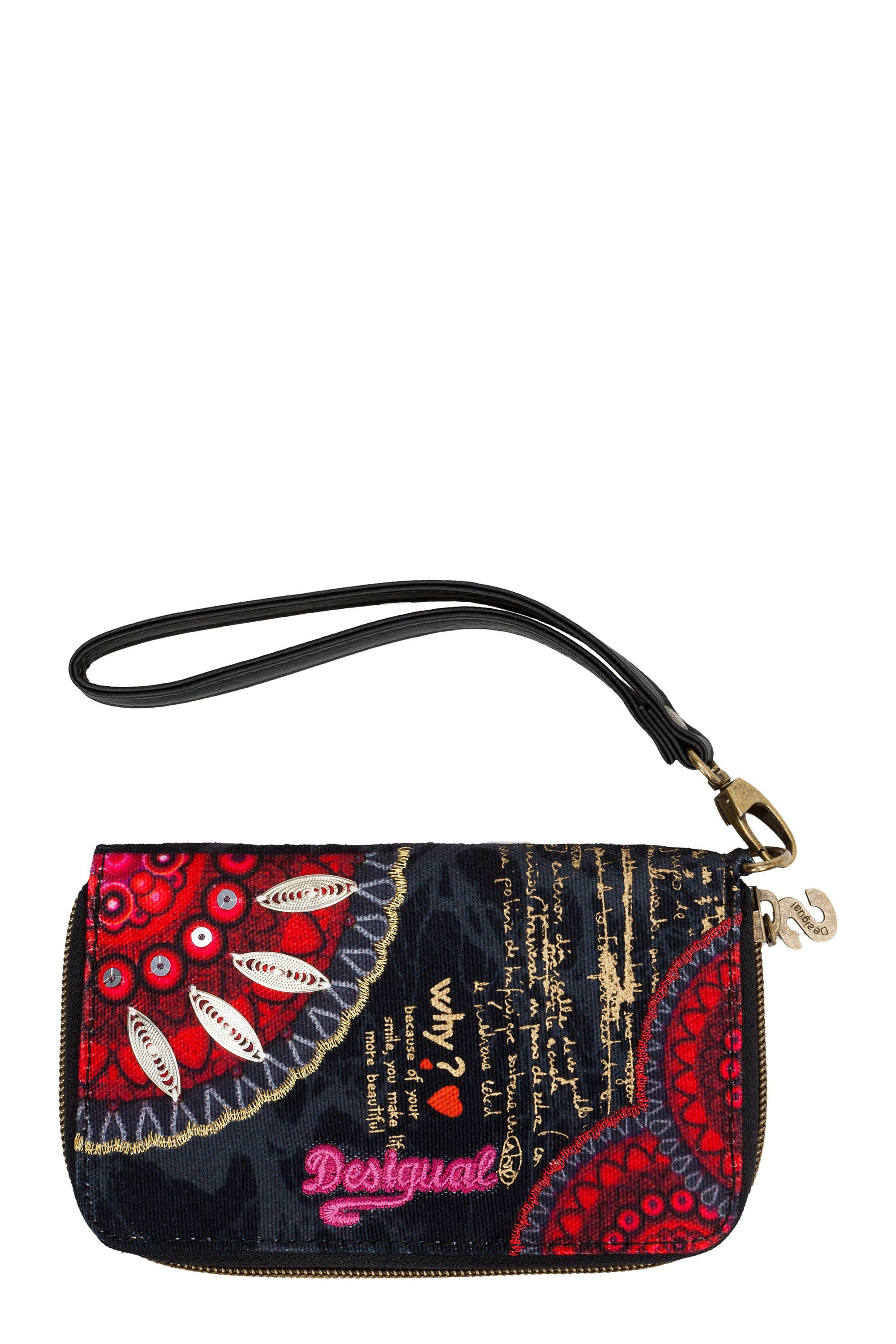Red circles mini purse