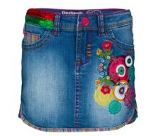 Girls aligustre denim skirt