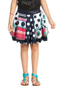 Girls caracolillos high waisted skirt