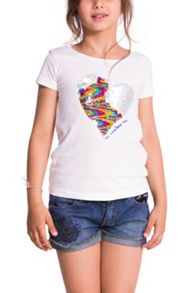 Girls ayabarrena printed t-shirt