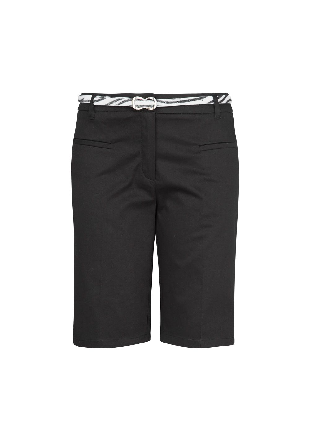 Belt cotton Bermuda shorts