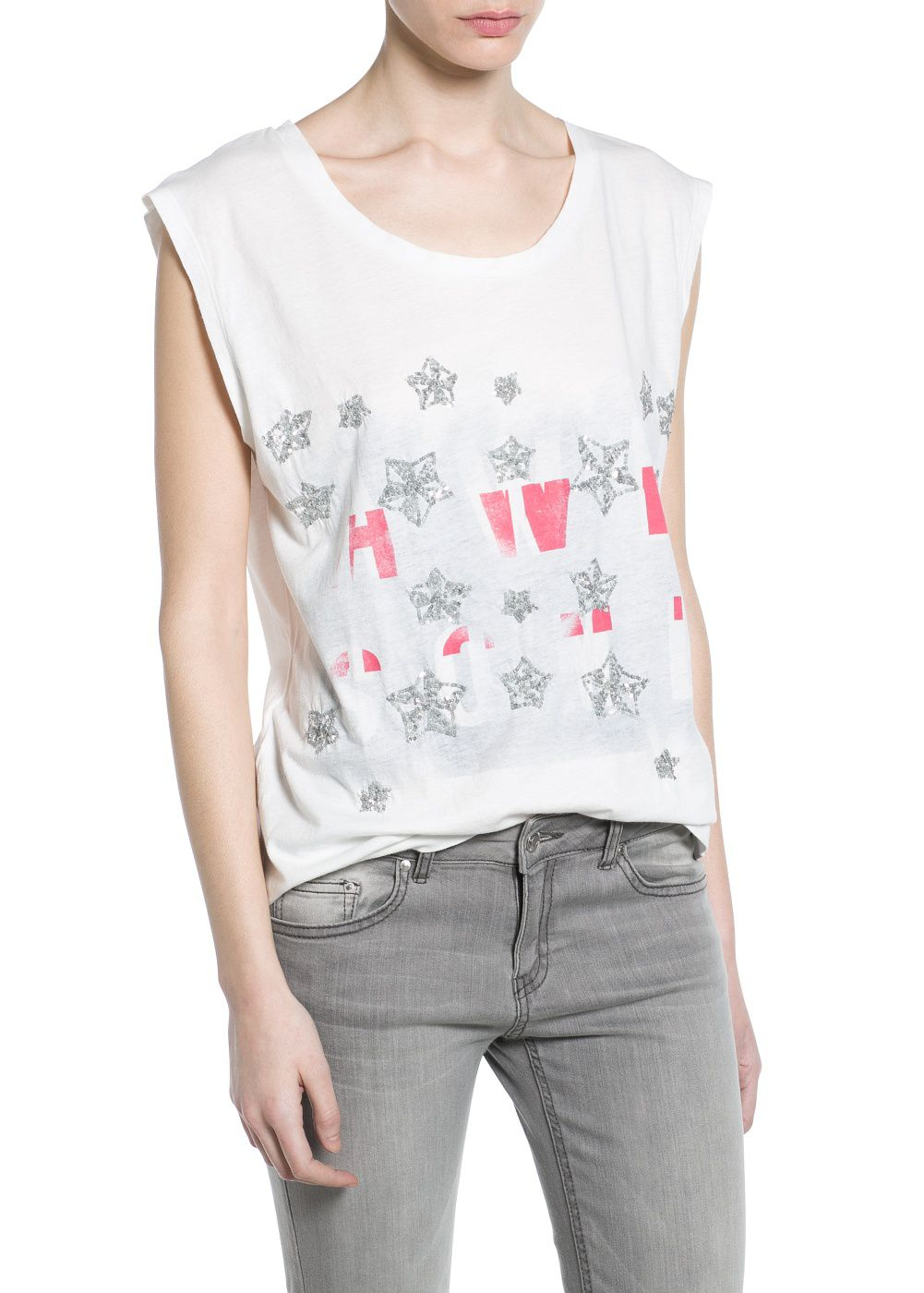 Sequin printed t-shirt
