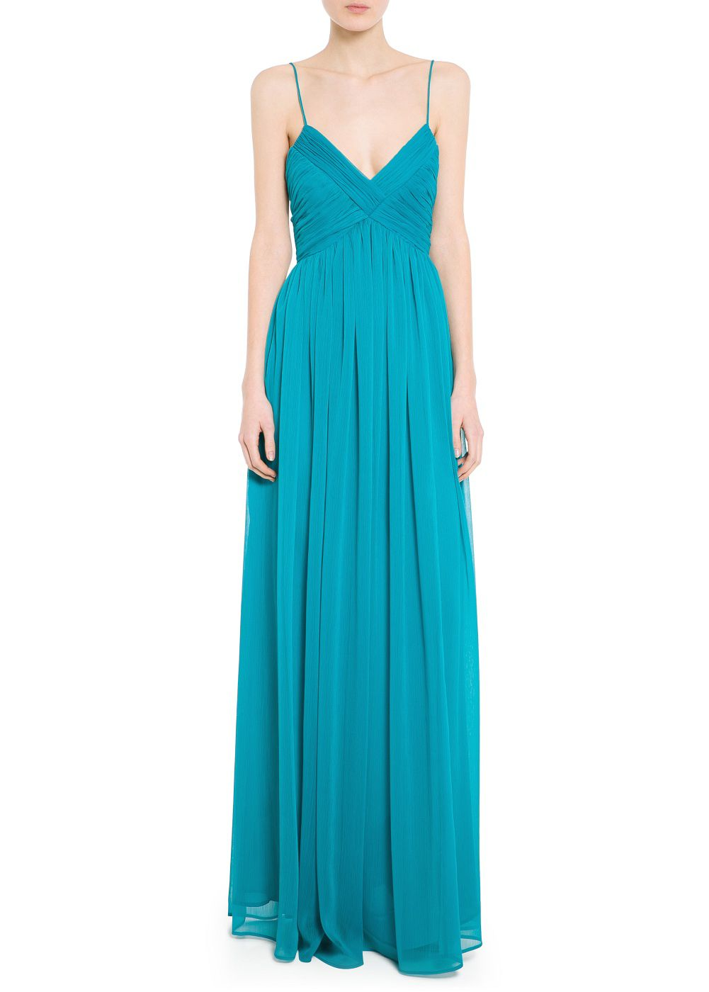 Draped neckline gown