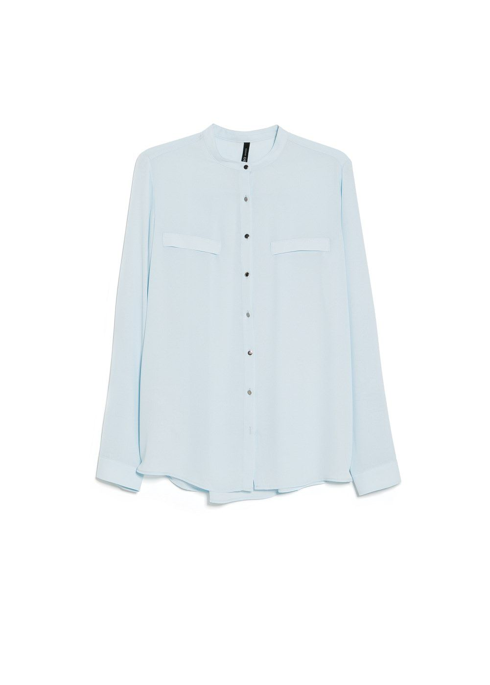 Mao collar flowy blouse
