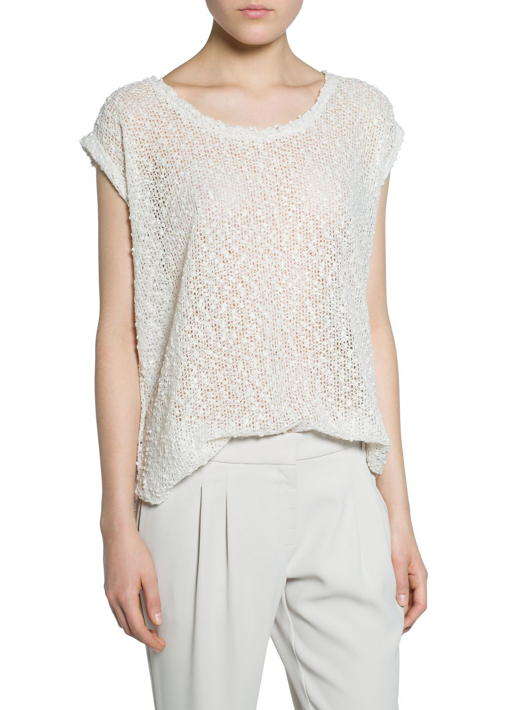 Open-knit t-shirt