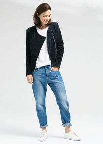 Peccary leather jacket