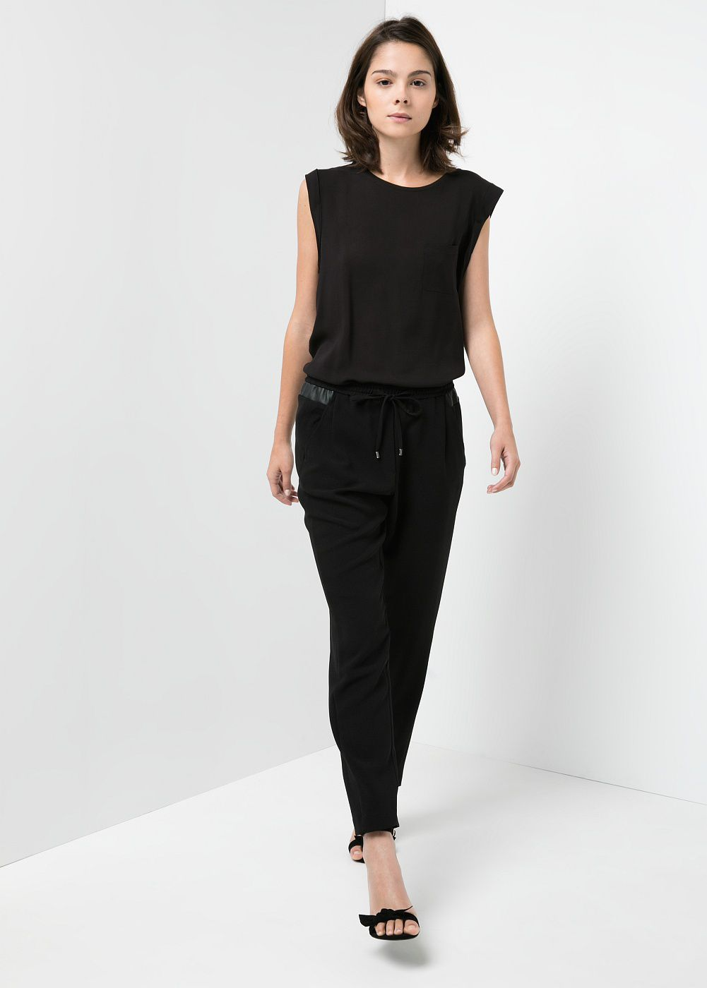 Applique baggy trousers